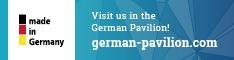 Visit us in the German Pavillion!